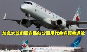 政府同意民航公司用代金券顶替退款